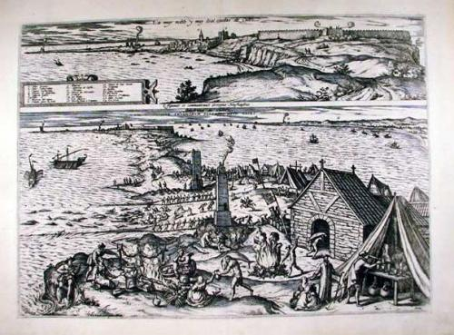 SOLD La muy noble y muy leal ciudas de Cadiz / Almadraun de Cadiz sive Thynnorum piscatio apud Gades