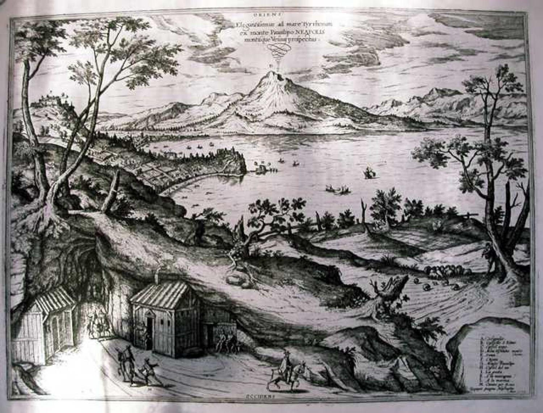 SOLD Elegantissimus ad mare Tyrrhenum ex monte Pausilipo Neapolis montisque Vesuvii prospectus