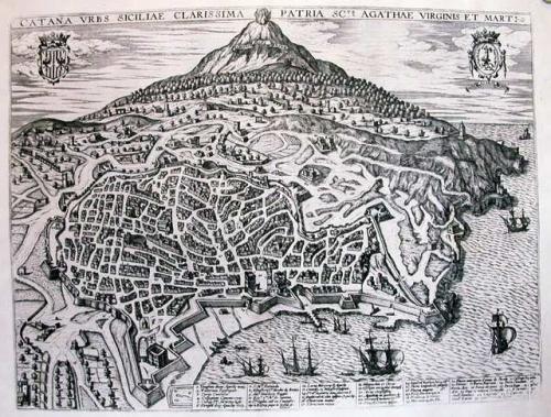 SOLD Catana urbs Siciliae clarissima scte. Agathae Virginis et mart