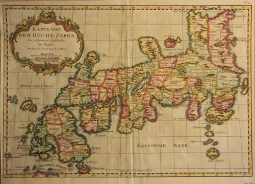SOLD Karte von dem Reiche Japon