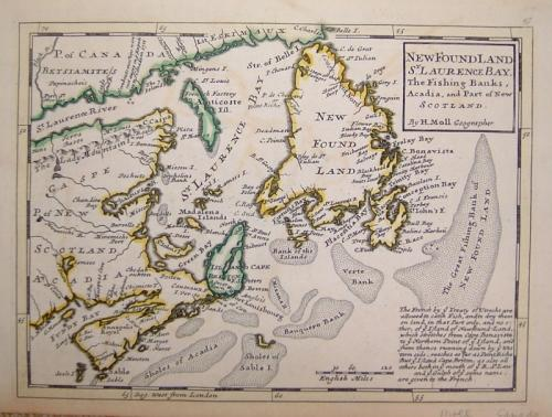 SOLD New Found Land, St. Laurence Bay, the fishing banks, Acadia...