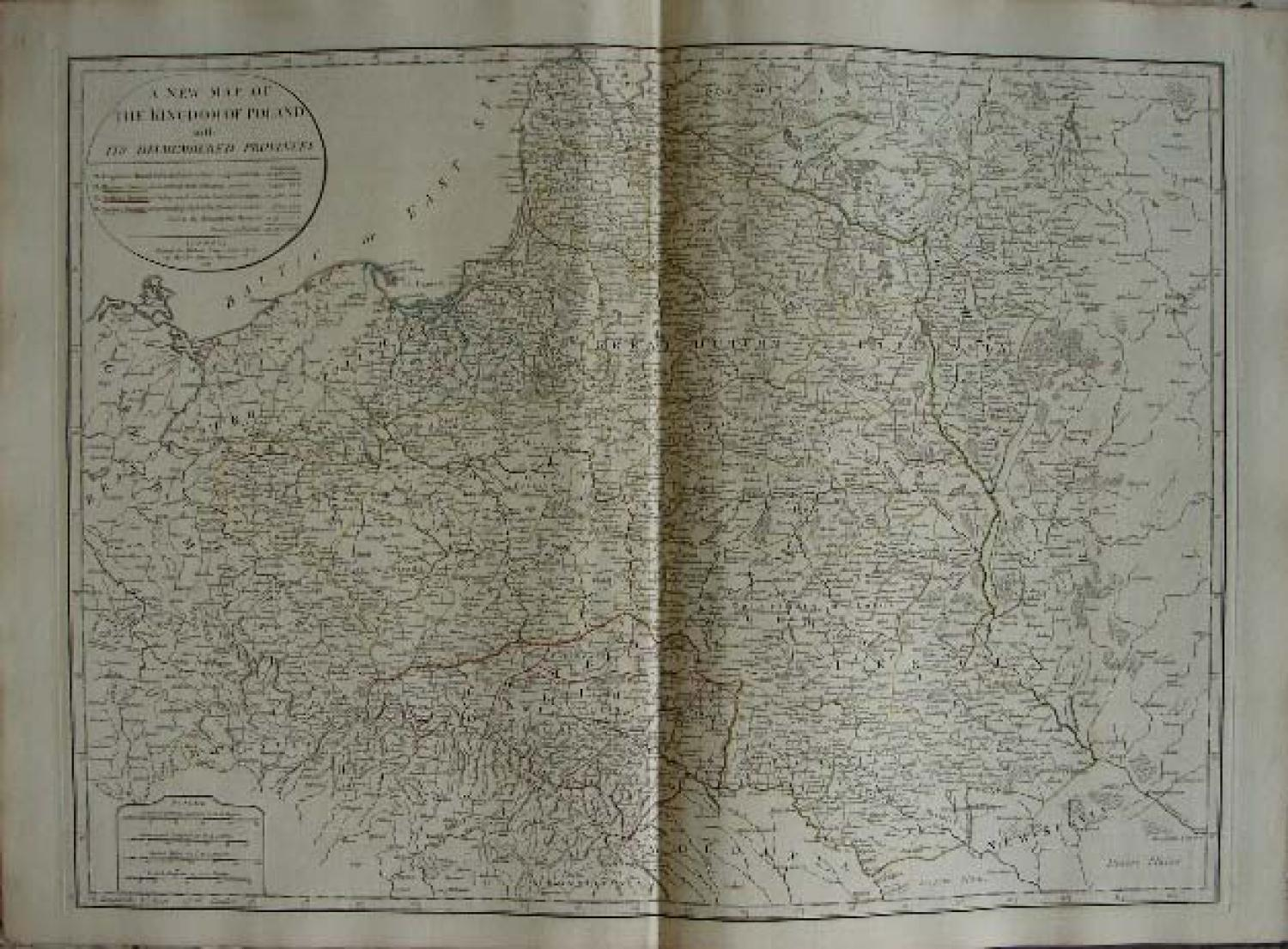 SOLD A new map of the Kingdom of Poland with its dismembered provinces ...