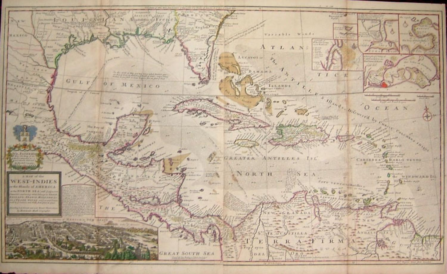 SOLD A Map of the West Indies or the Islands of America