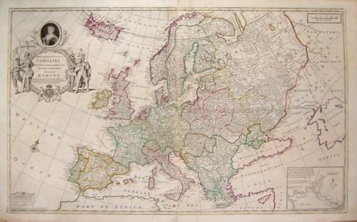 SOLD To Her most Sacred Majesty CAROLINA... This Map of EUROPE...