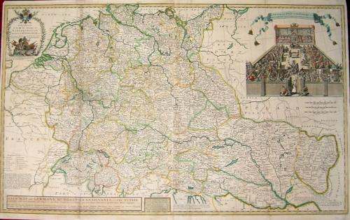 SOLD New Map of Germany, Hungary, Transilvania & The Suisse Cantons..