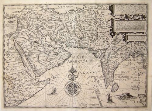 SOLD Deliniantur in hac tabula Orae maritima...Arabiae, Ormi, Persiae