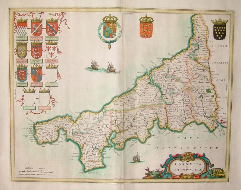 Blaeu - Cornubia sive Cornwallia