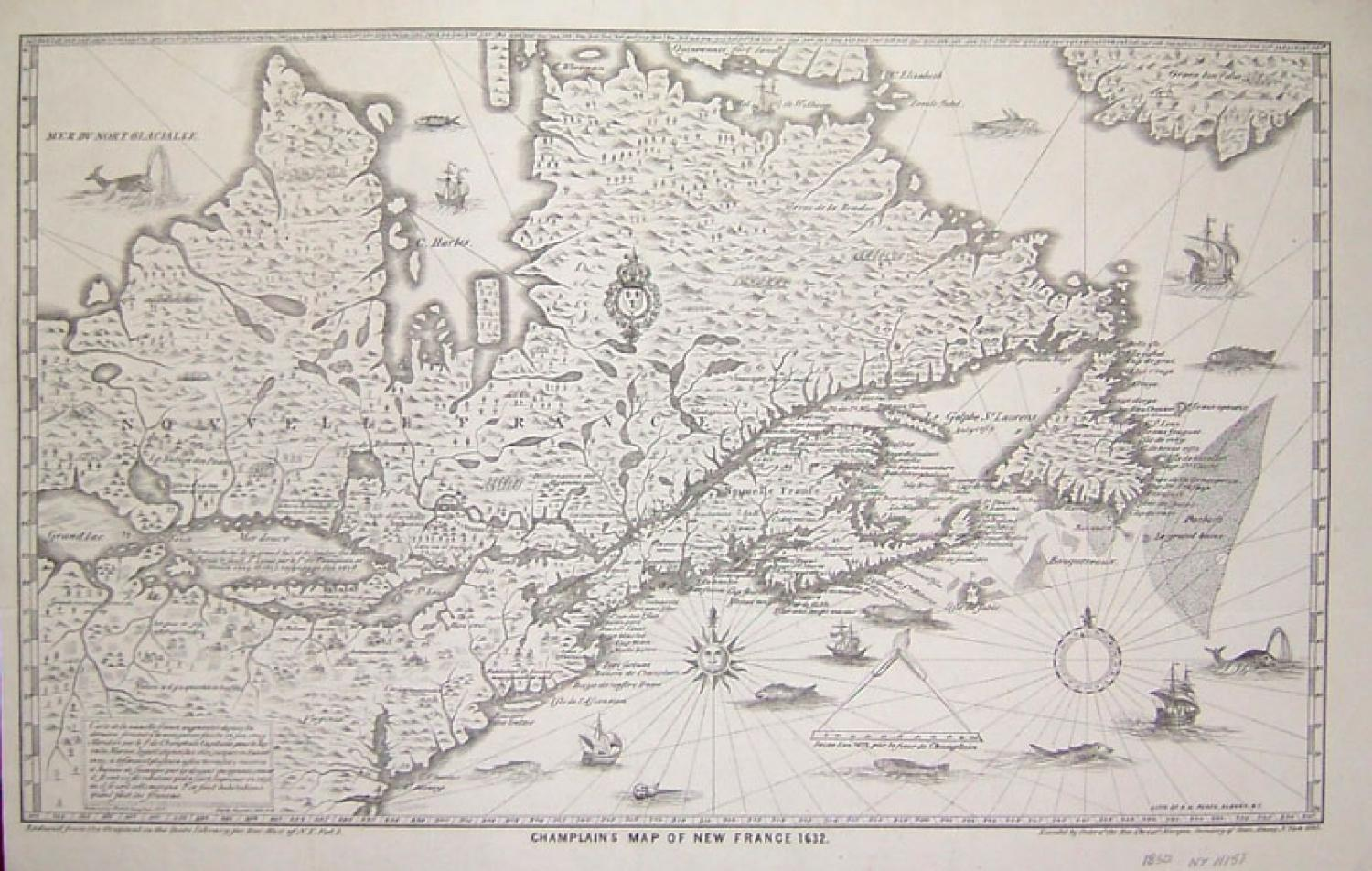 SOLD Champlain's Map of New France 1632