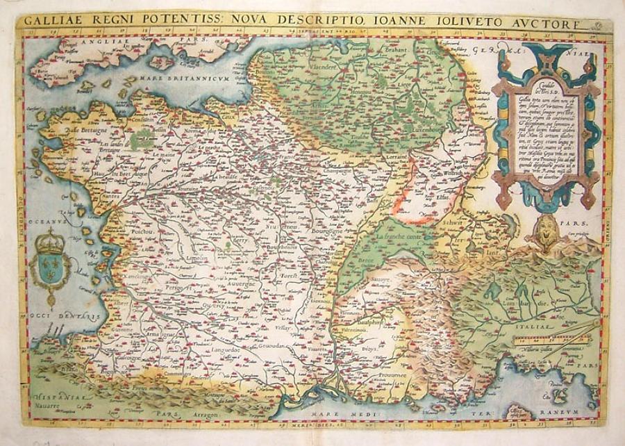 Ortelius - Galliae Regni Potentiss