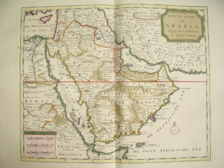 Tirion - Nieuwe Kaart van Arabia