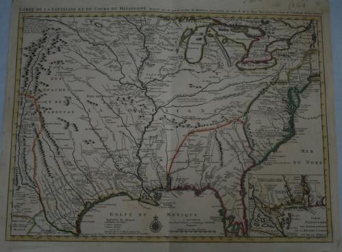 SOLD Carte de la Louisiane et du Cours du Mississipi