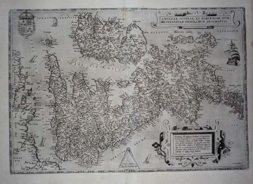 Ortelius - Angliae, Scotiae et Hiberniae