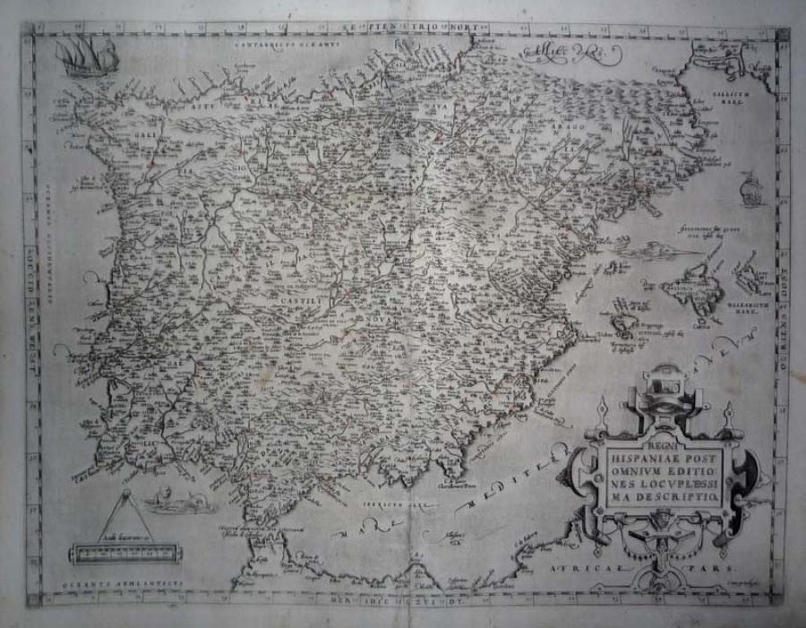 Ortelius - Regni Hispaniae... descriptio