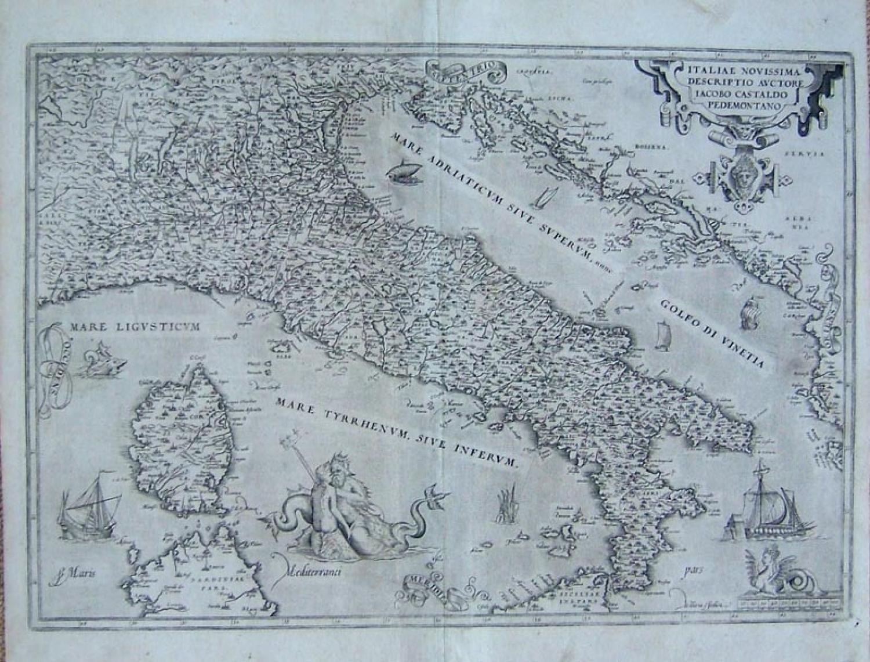Ortelius - Italiae Novissima Descriptio