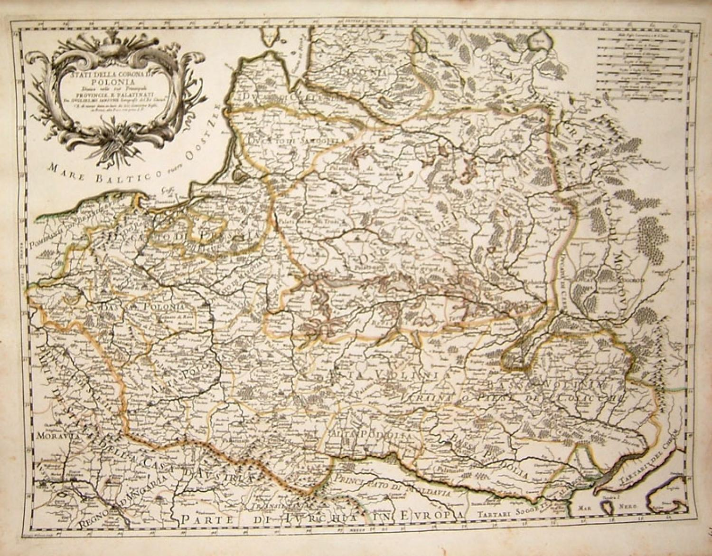 Sanson / Rossi -Stati Della Corona di Polonia