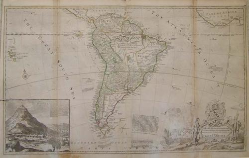 SOLD Map of South America, according to the Newest and most exact observations .