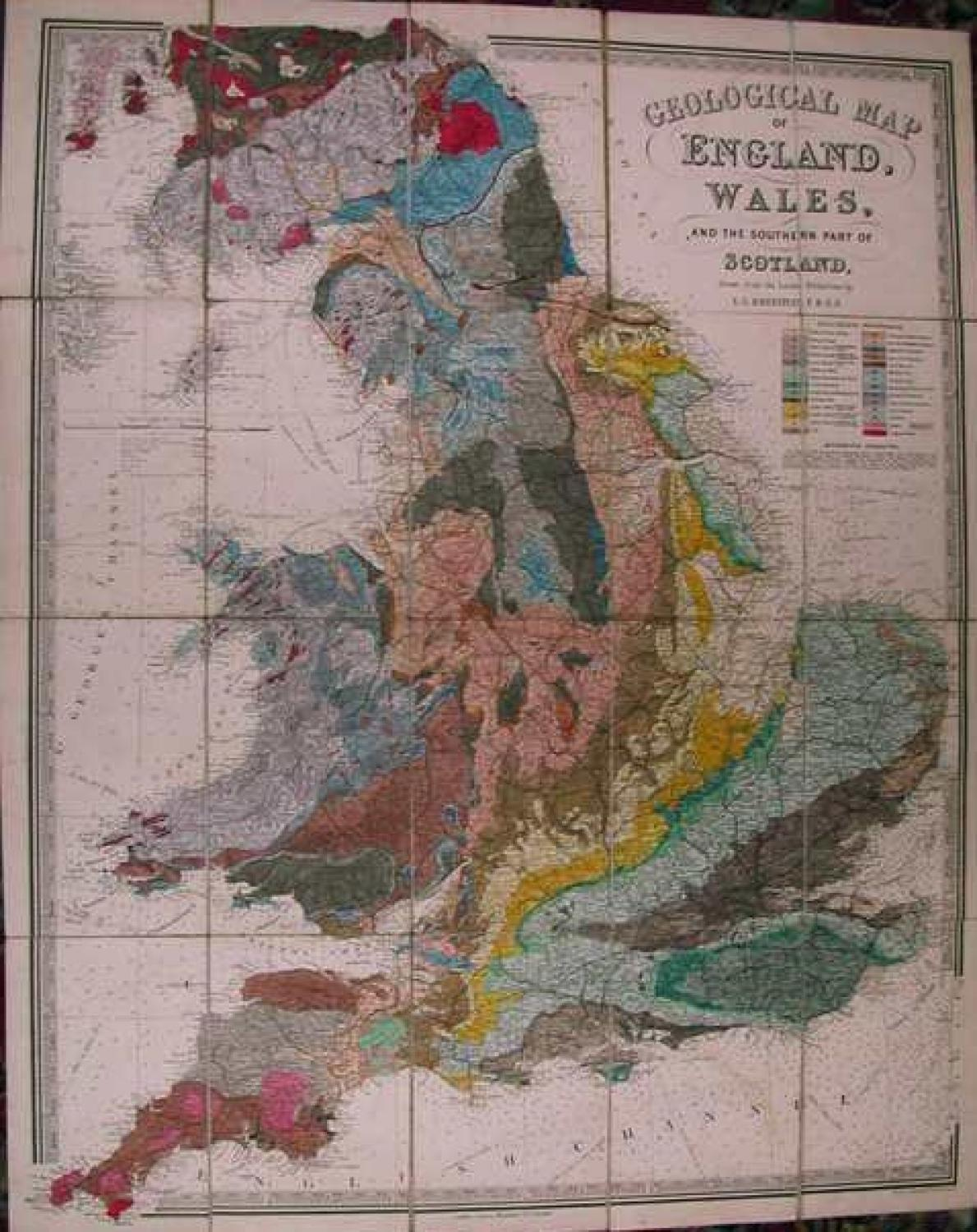 SOLD Geological map of England Wales and the southern part of Scotland