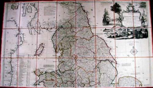 SOLD A new map of England & Wales drawn from several survey &c …