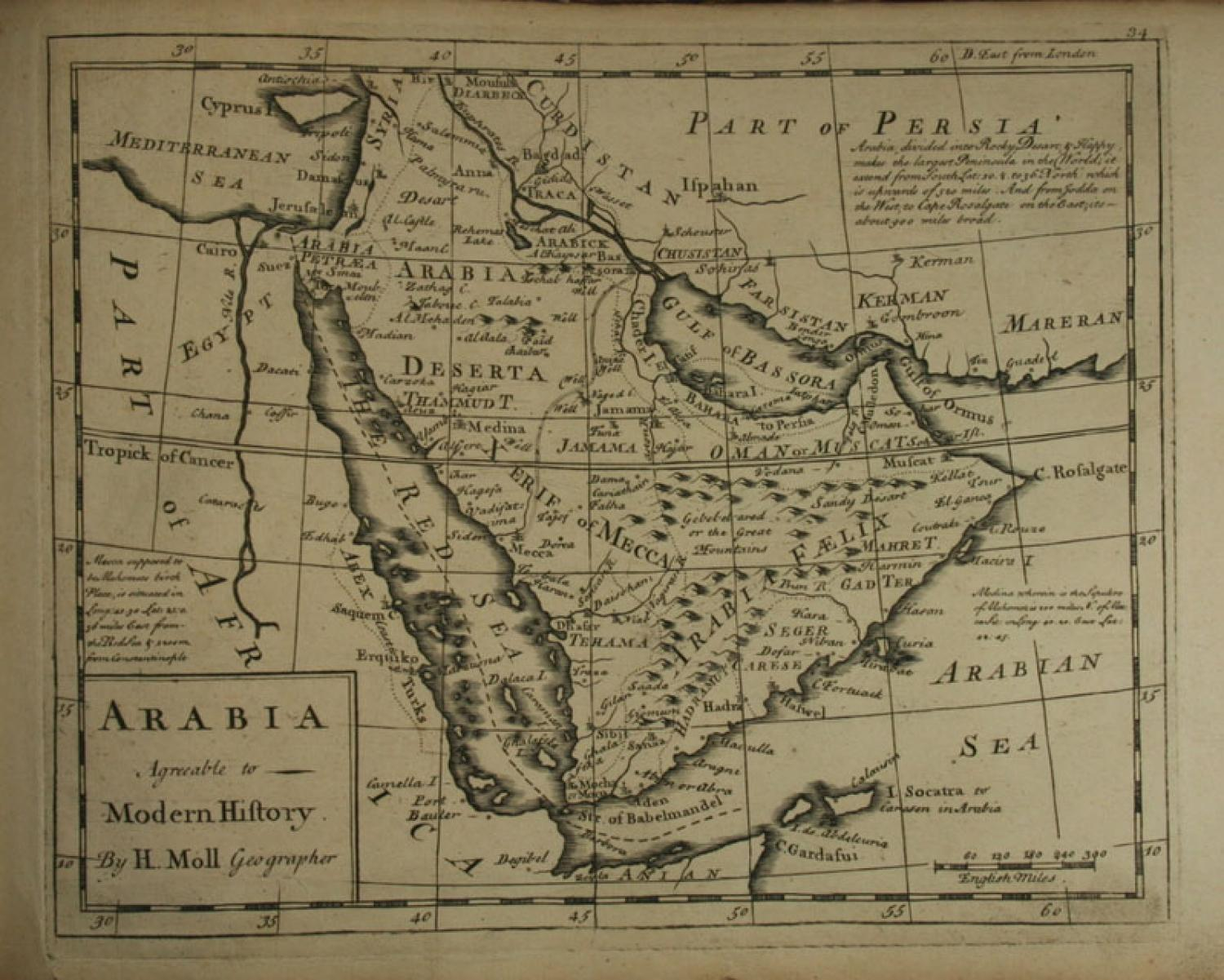 SOLD Arabia. Agreeable to Modern History