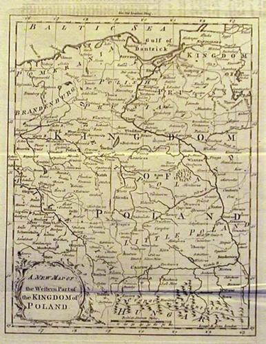 SOLD A new map of the western part of the Kingdom of Poland