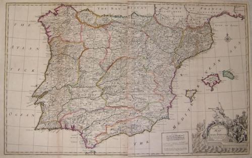 Wildey A New and Exact Map of Spain Portugal