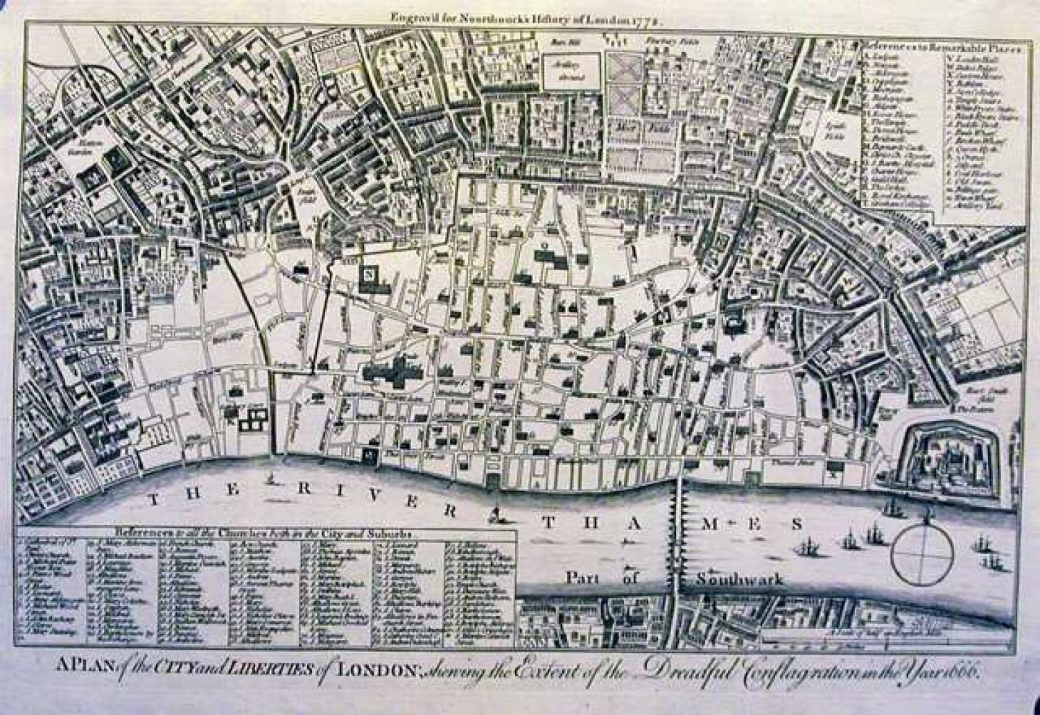 SOLD A Plan of the City and Liberties of London