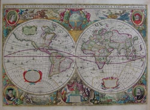 SOLD Nova Totius Terrarum Orbis Geographica ac Hydrographica Tabula