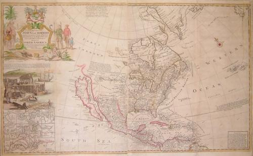 SOLD This Map of North America According to ye Newest and Most Exact Observations...