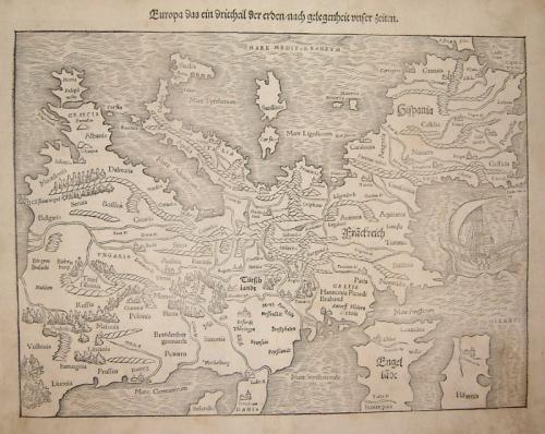 SOLD Europa, das ein Drittheil der Erden