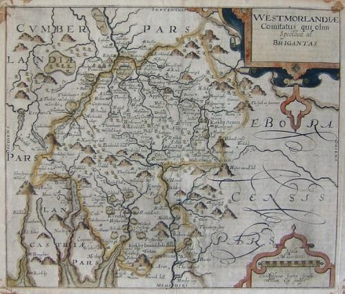 Saxton / Kip - Westmorlandiae Comitatus