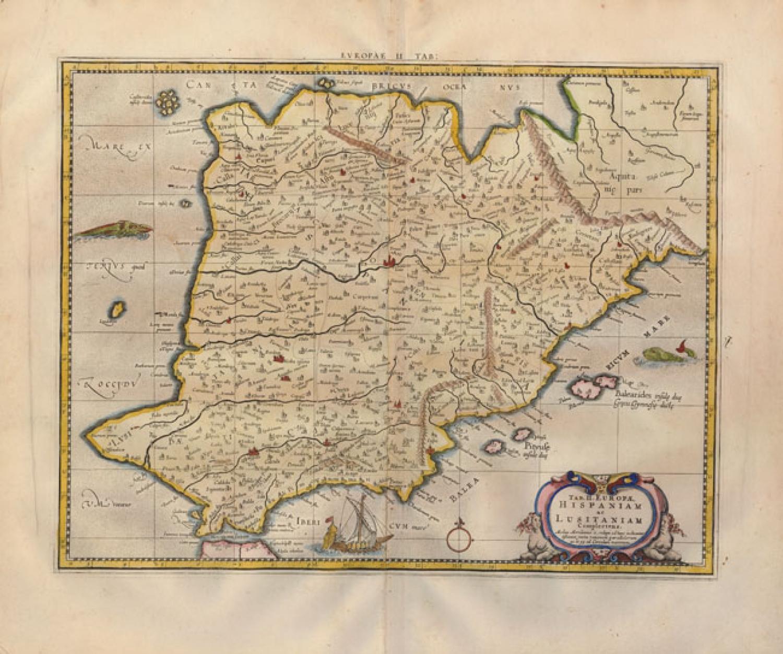 SOLD Tab. II. Europae, Hispaniam ac Lusitaniam Complectens