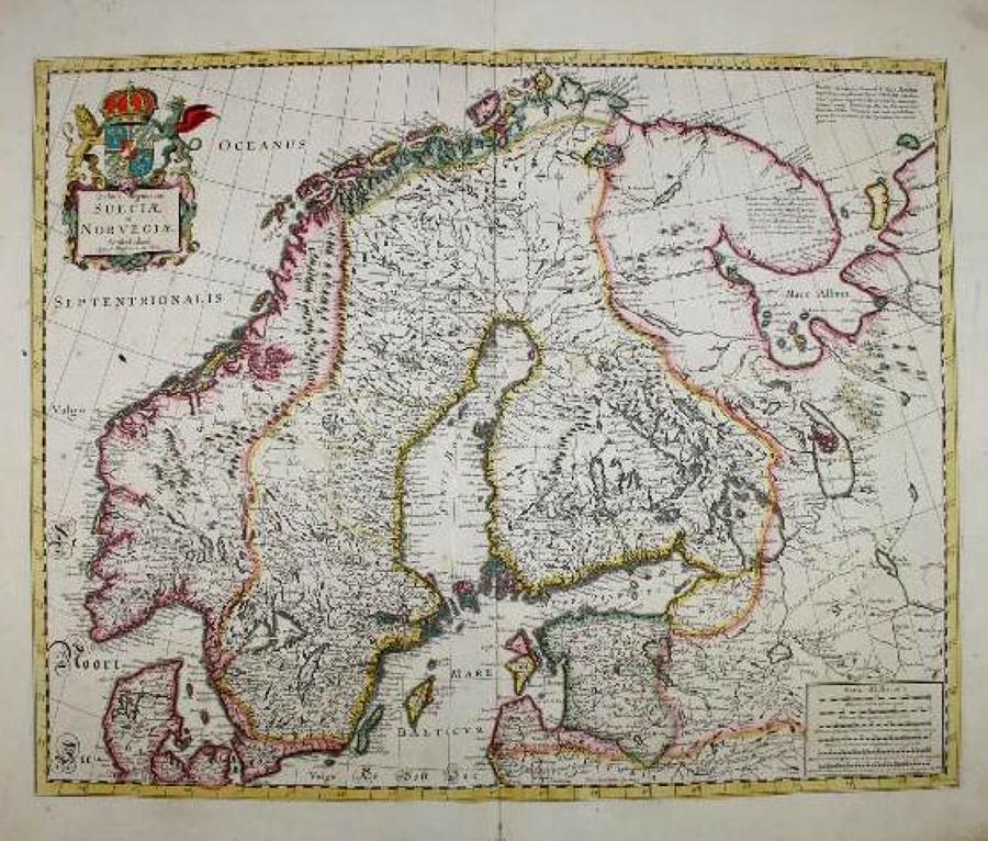 De Wit - Tabula Regnorum Sueciae et Norvegiae