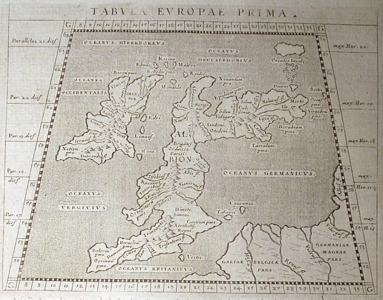 SOLD Tabula Europae Prima