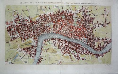 SOLD A New and Correct Plan of London Westminster and Southwark