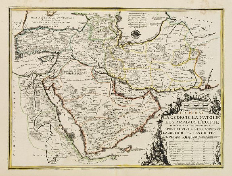 SOLD La Perse, La Georgie, LA Natolie, Les Arabies, L'Egipte et le Cours du Nile..