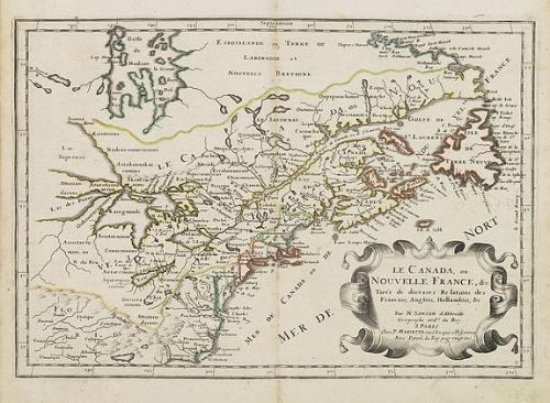 SOLD Le Canada ou Nouvelle France &c. Tirée de diverses Relations des Francois, Anglois, Hollandois &c.