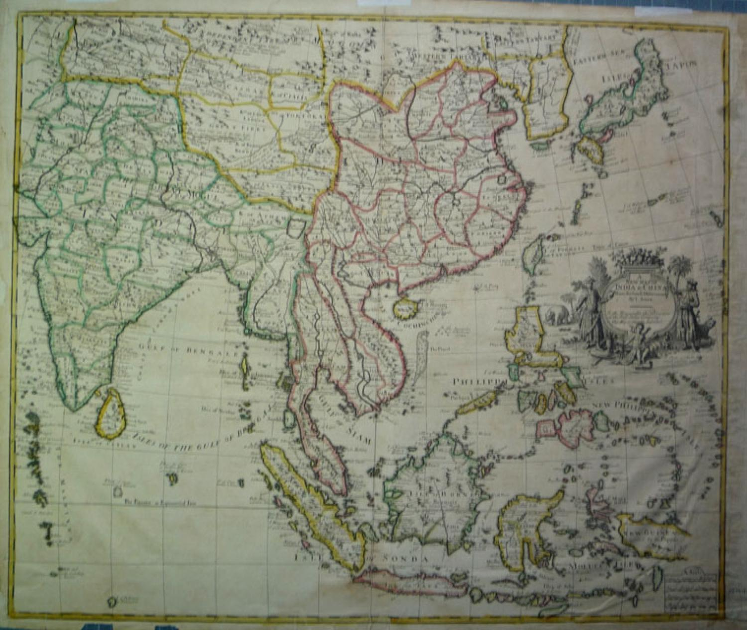 SOLD A New Map Of India & China From the latest Observations