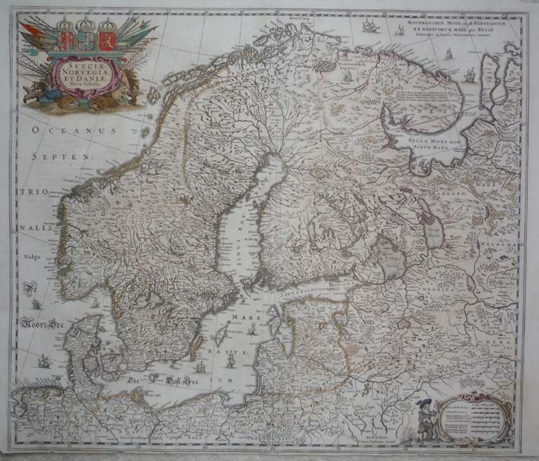 Jansson Sveciae, Norvegiae,Daniae Nova Tabula