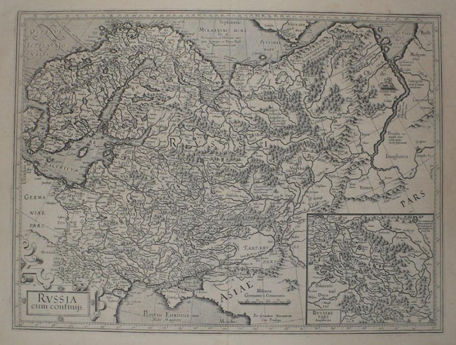 Mercator / Hondius - Russia com confijnis