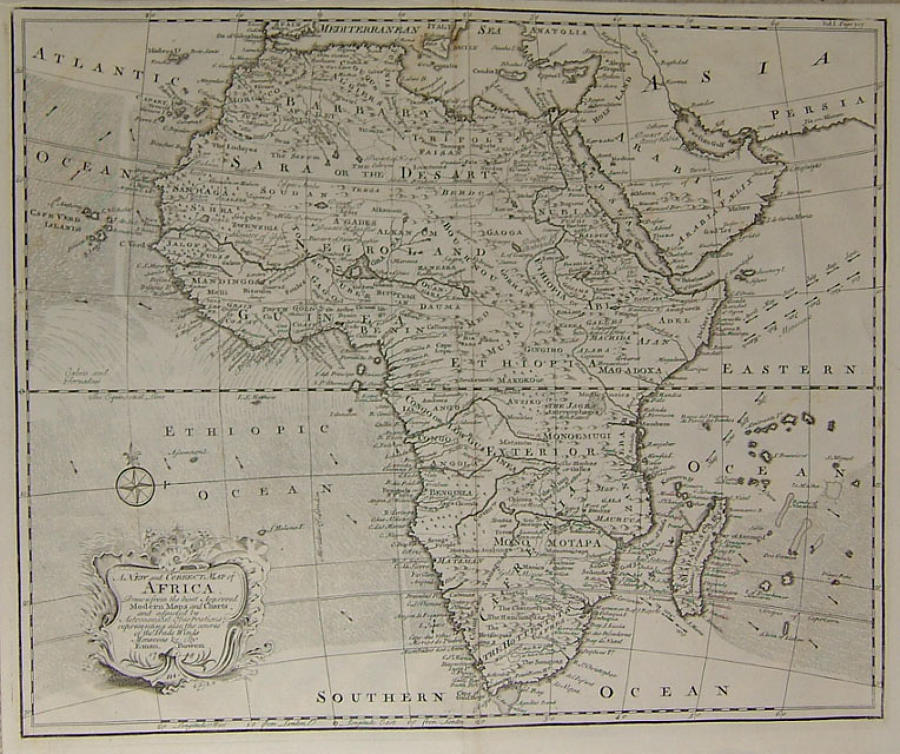 Bowen - A New and Correct Map of Africa