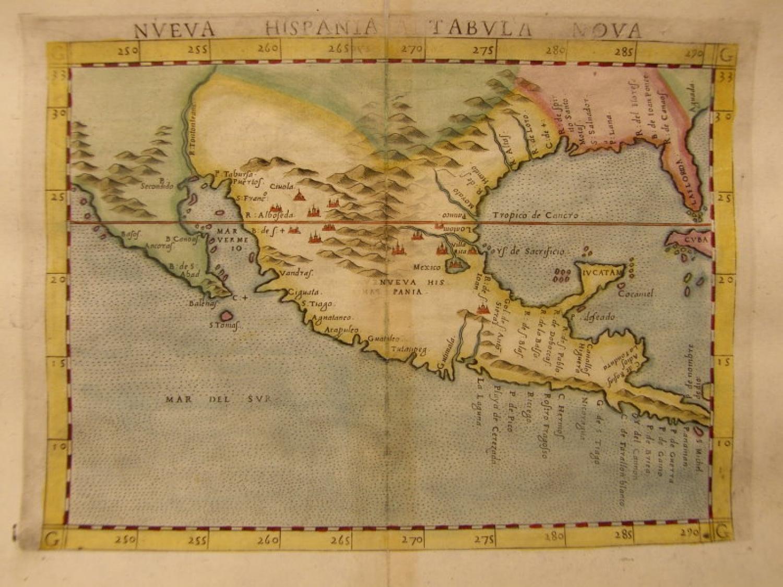 Ruscelli - Nueva Hispania tabula nova