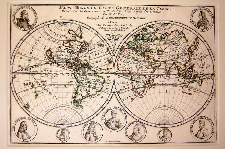 SOLD Mappe Monde Ou Carte Generale De La Terre