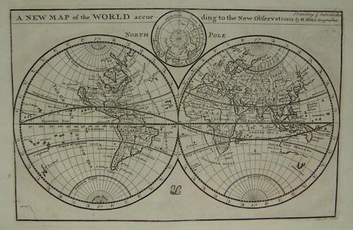 Herman Moll - A New Map of the World