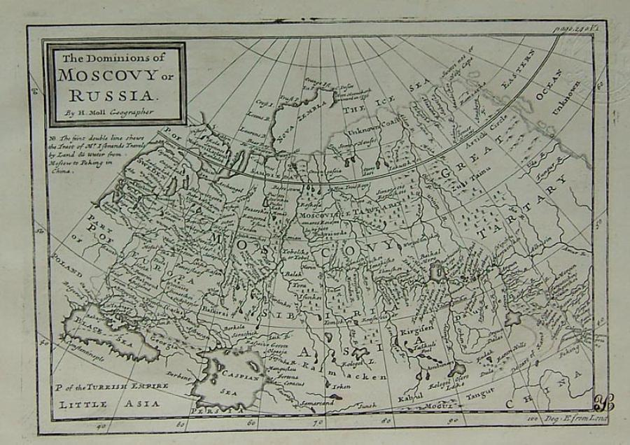 Moll - The Dominions of Moscovy or Russia