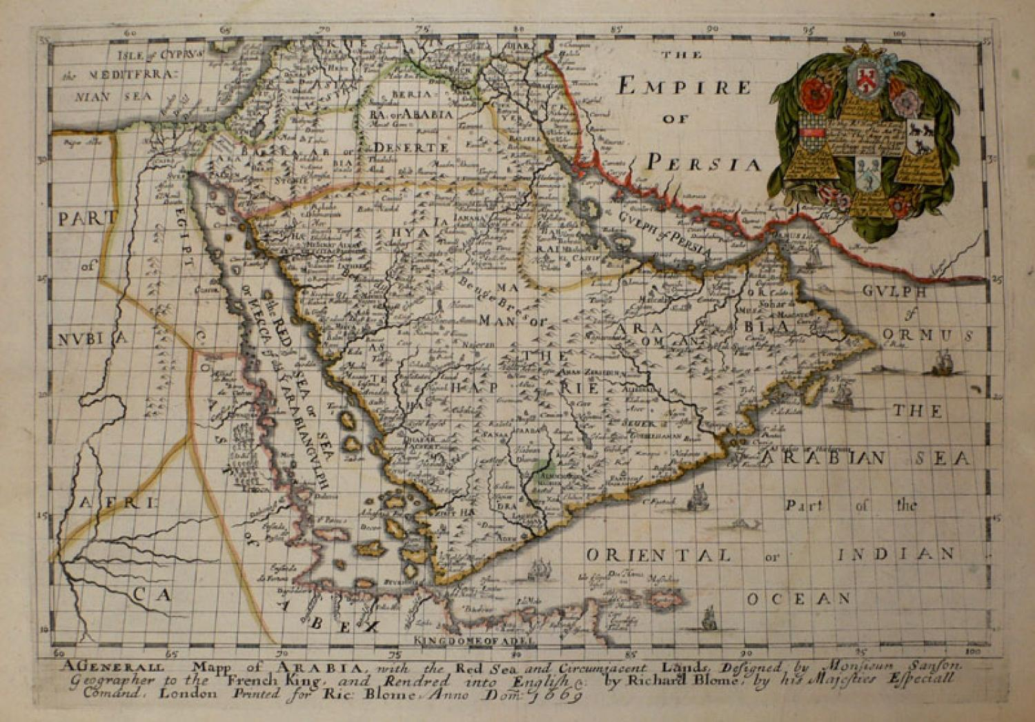 SOLD A Generall Mapp Of Arabia...