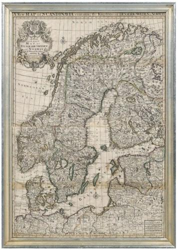 SOLD A New Map of Scandinavia