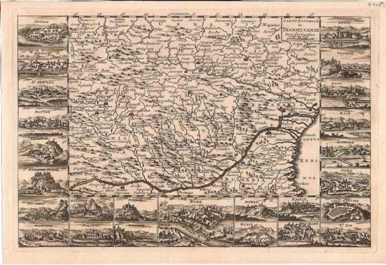 SOLD Carte nouvelle de Transilvanie avec ses confins