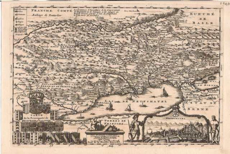 SOLD Carte de la Principaute de Neufchatel et Valangin