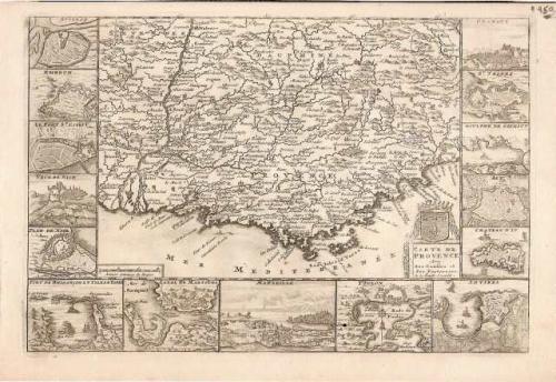 SOLD Carte de Provence avec ses confins et ses fortereses