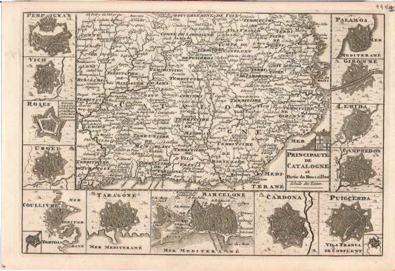 SOLD Principaute de Catalogne et partie du Roussillon